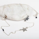 Triple Star Long Fine Necklace