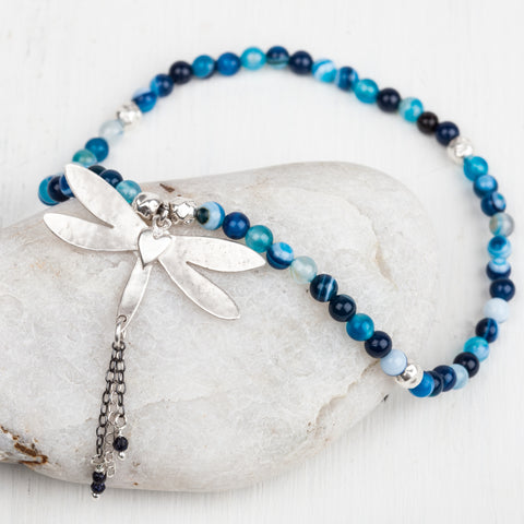 Dragonfly Heart Ankle Bracelet