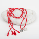 Cowrie Shell on Silk Necklace
