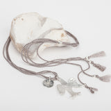 Dove Heart Silk Necklace