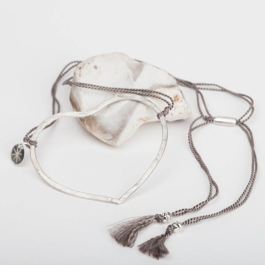 Open Heart Silk Necklace