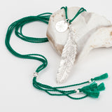 Feather Silk Necklace