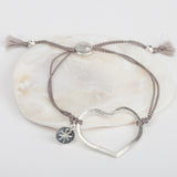 Open Heart Silk Bracelet
