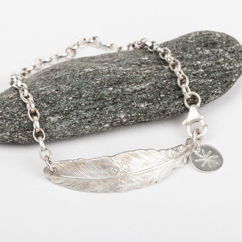 Feather Chunky Chain Bracelet