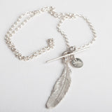 Feather on Medium Chain Necklace
