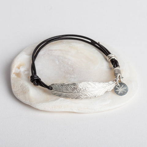 Feather & Leather Bracelet