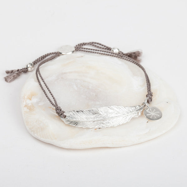 Feather & Silk Bracelet