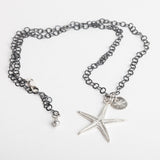 Starfish on Oxidised Circle Chain Necklace
