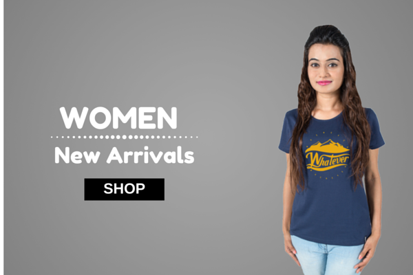 Buy cool designer tshirts for women. Cute & stylish cotton  t-shirts online india at socratees.