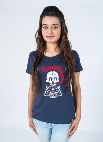 Cute Coffee love Cool Printed cotton T-shirt for Women India by socratees