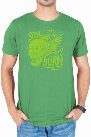 Men's Green Soul burn Printed T-shirt by socratees clothing