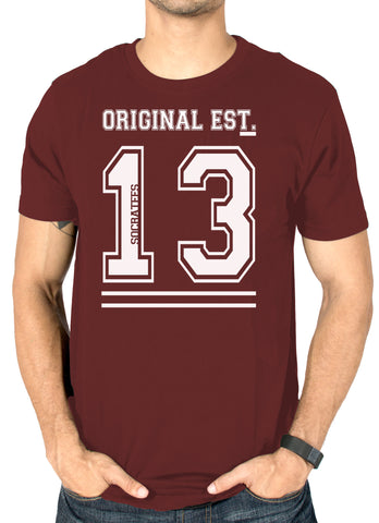 Original socratees Maroon branded printed t-shirt for men online india