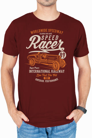 Speed Racer Funky designer T-shirt for men online india by socratees clothing