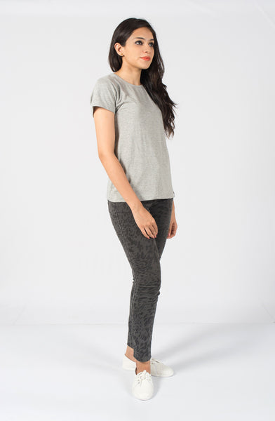 Melange Grey Plain Tee