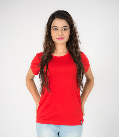 Cranberry Red Plain Tee
