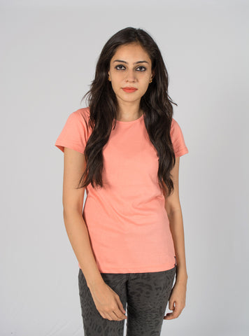 Blooming Peach Plain Tee
