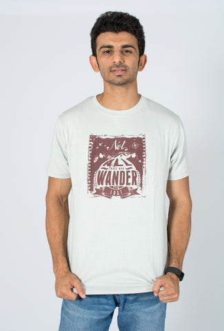 Socratees Not all those who wander are lost J.R.R. Tolkien Lord of the rings inspired T-shirt India