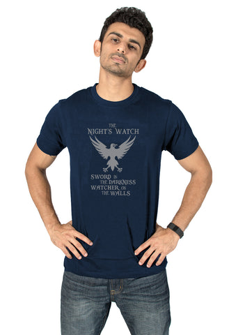 Socratees Men's Game of thrones Night's Watch T-shirt online @ socratees.in