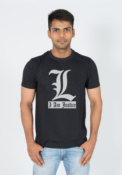Death Note I am Justice anime t-shirt india by socratees clothing
