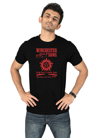 Socratees Winchester & sons Supernatural TV Series T-shirt online india @ socratees.in