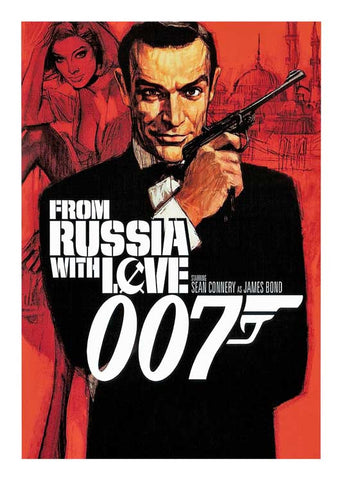 JAMES BOND 007 MOVIE POSTER ILLUSTRATION - FROM RUSSIA WITH LOVE