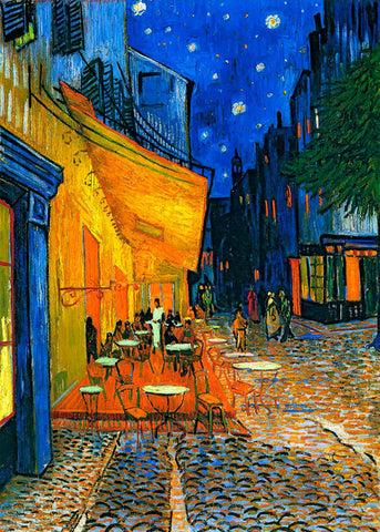 Café Terrace at Night - Vincent van Gogh, LG-ARPI-008.