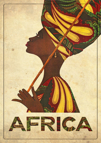 Africa Theme Magnet (Woman) Mag-001.
