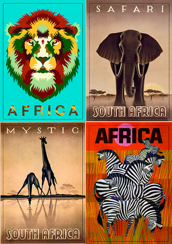 Set of for Magnet (Africa Animals). Mag-Set 2.