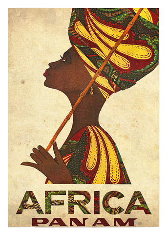 Africa Women, Sk SA 17. Poster in a 3mm Supawood board.