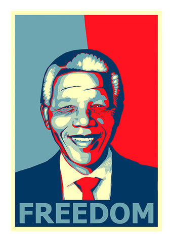 Freedom Mandela, Sk SA 33. Poster in a 3mm Supawood board.