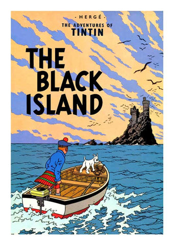 TINTIN, THE BLACK ISLAND, LG-TLS-37.