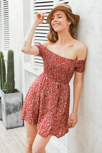 Loral Off shoulder floral summer dress
