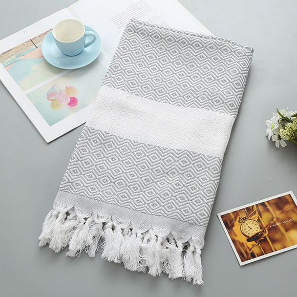 Cotton Stripe Beach Towel