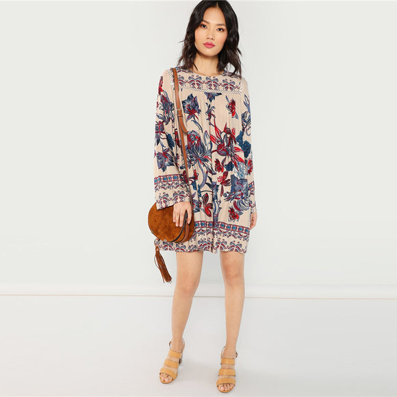 Luna Floral Long Sleeve Dress