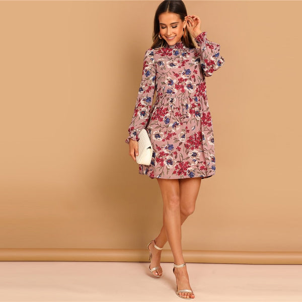 Millie Long Sleeve Floral Dresses