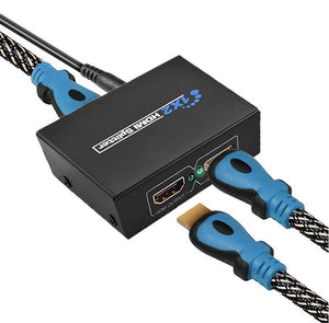Full HD HDMI Splitter 1x2 Hub Repeater Amplifier