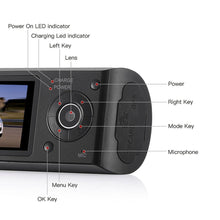 Load image into Gallery viewer, G-Sensor GPS Dual Len Camera