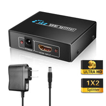 Load image into Gallery viewer, Full HD HDMI Splitter 1x2 Hub Repeater Amplifier