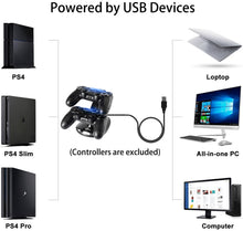 Load image into Gallery viewer, LED USB Charger Station For Sony PS4 Controller