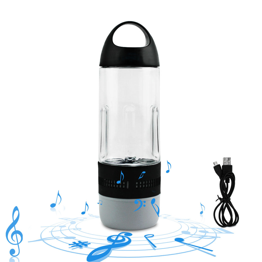 Music Fitness Water Bottle Wireless Speaker Outdoor Sports Waterproof USB Charge