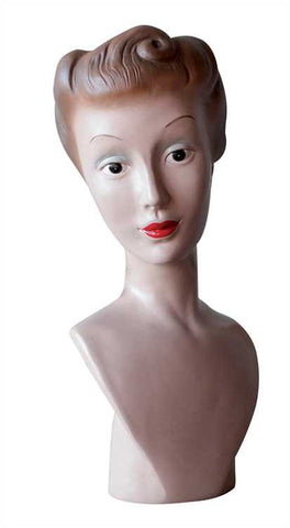 Ladies 1940s Figurine (Bust/Mannequin) with Victory Rolls