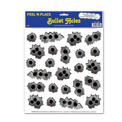 Bullet Holes  (Peel and Place)