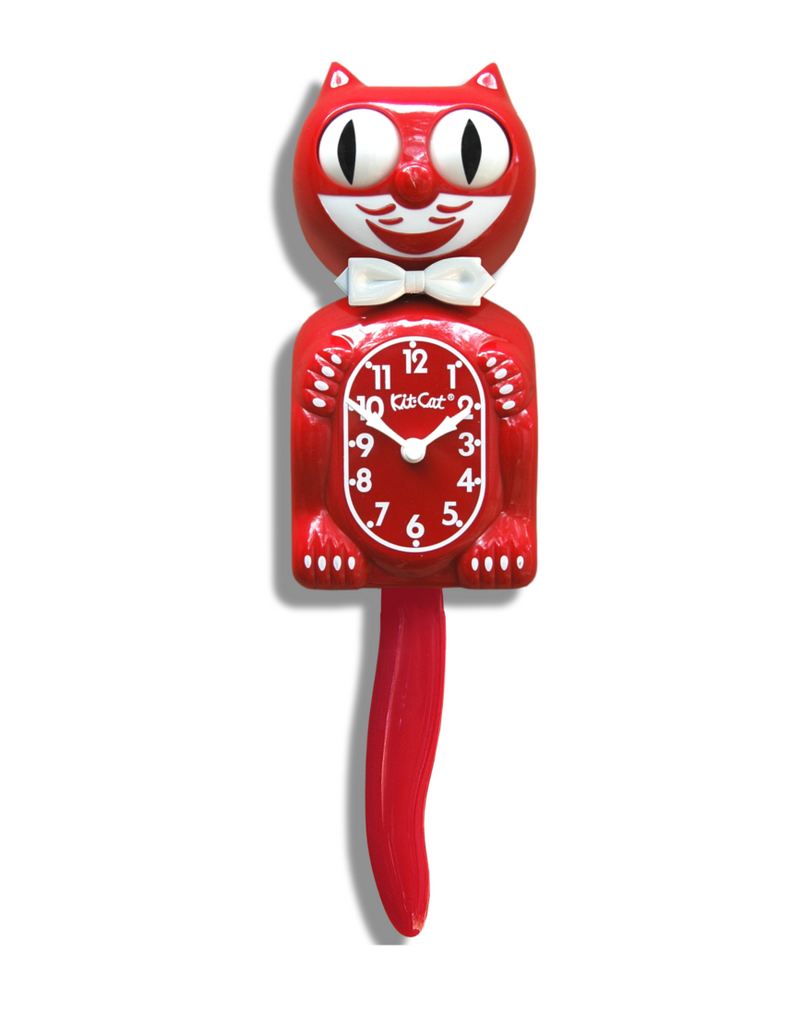 Kit-Cat Clock Scarlet