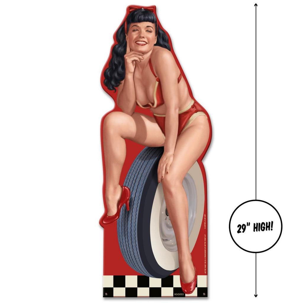 Hot Rod - 'Bettie Page' Large Sign