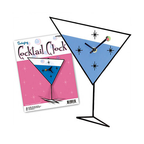 Swinging Cocktail Clock.