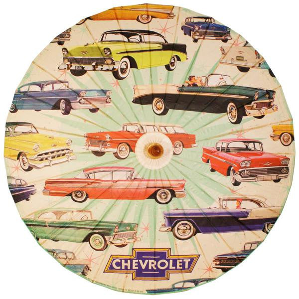 GM Chevrolet 1950s Cars Pinup Parasol