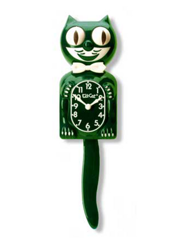 Kit-Cat Clock (Gentleman Full Size) Hunter Green