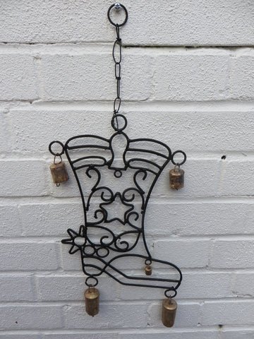 Cowboy Boot Wind Chime