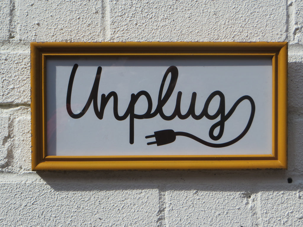 unplug sign plug sign hotel sign relax sign plug picture
