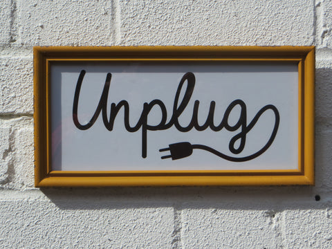 'Unplug' Framed Wall Decor